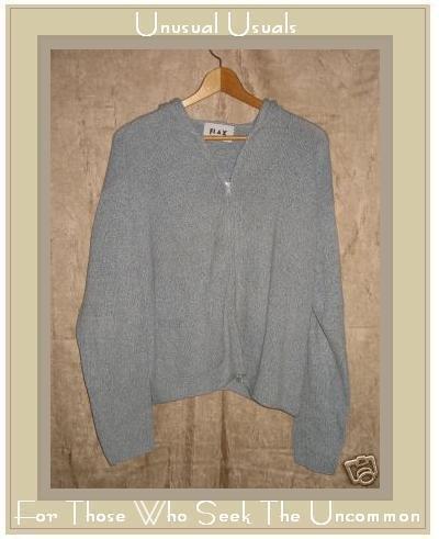 FLAX Lilac Hoody Cardigan Sweater Jeanne Engelhart Small Medium S M