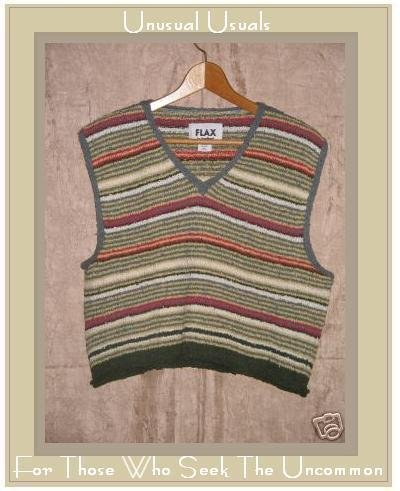 Flax by Angelheart Striped Sweater Jeanne Engelhart Medium Large M L
