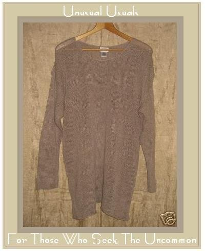 EILEEN FISHER Linked & Looped Linen Tunic Sweater Large L