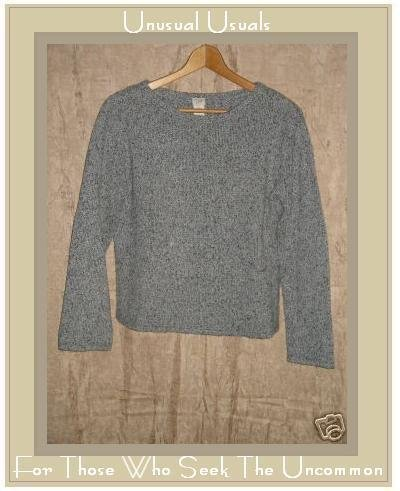 J. Jill Blue Gray Silk Cotton Pullover Crew Sweater X-Small Petite XSP