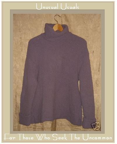 J. Jill Soft Nubby Purple Turtleneck Tunic Sweater X-Small XS