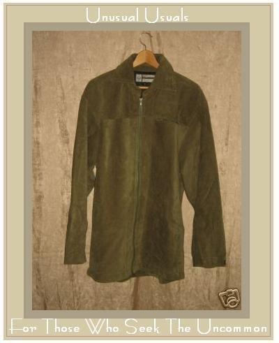 PRANA Soft Earthy Green Corduroy Coat Jacket X-Large XL