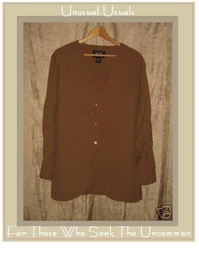 Eileen Fisher Silk Button Jacket Top Small Medium S M