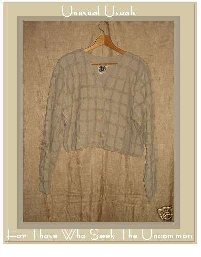 PRODUCE COMPANY Cropped Chenille Button Jacket Top Large L