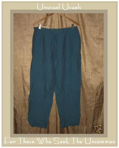 COLDWATER CREEK Night Sky Long LINEN Pants Slacks 1X