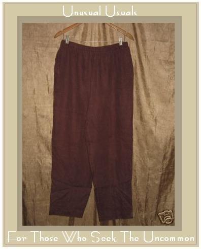 DAVID DART Collection Rich Brown LINEN Pants X-Large XL