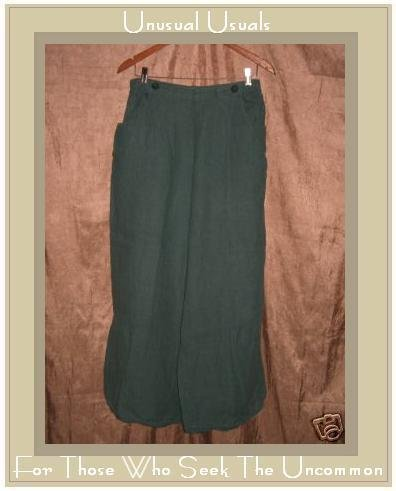 FLAX by Jeanne Engelhart LINEN Sailors Floods Pants LARGE L