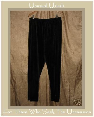NYL New York Laundry Soft Black Cotton Velour Pants 2X