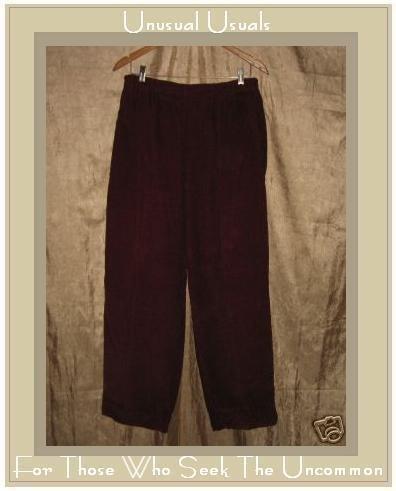 Jeanne Engelhart Flax Berry Cotton Corduroy Pants Large