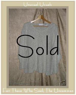 J. JILL Gray Linen Cotton Pullover Sweater Shirt Top PL