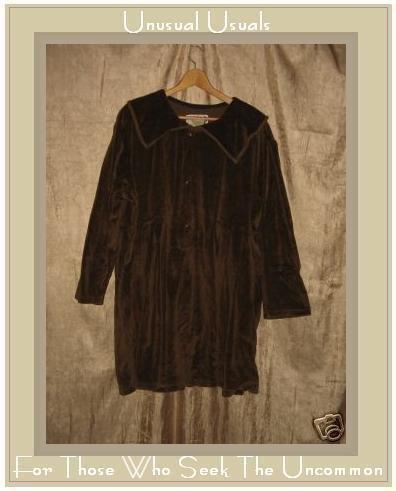 Angelheart Design by Jeanne Engelhart Flax Velour Dress MEDIUM M