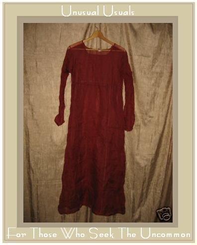 Neesh by D.A.R. Sheer Rust Silk Overdress Small Medium S M