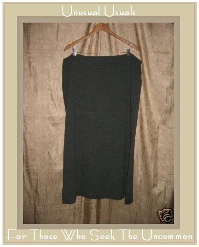 J. JILL Long Dark Gray Soft Merino Wool Skirt X-Large Petite XLP