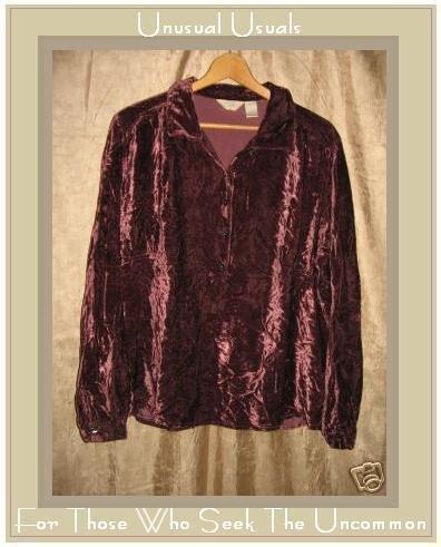 J. JILL Shapely Velvet Tunic Shirt Top X-Large XL