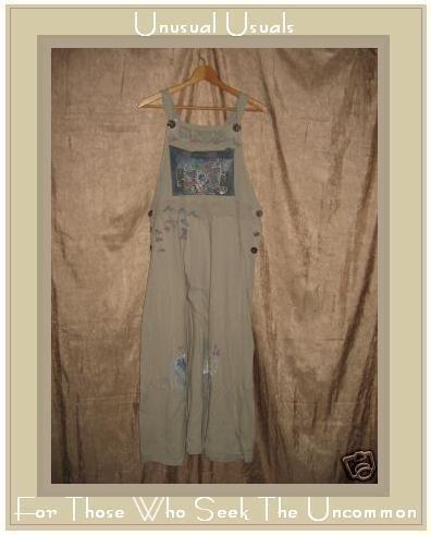 ANTICIPATION Boutique Long Painted Cotton Jump Dress Large L
