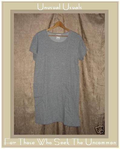 COTTON STUDIO Gray Knit Pullover Tunic Dress Medium M