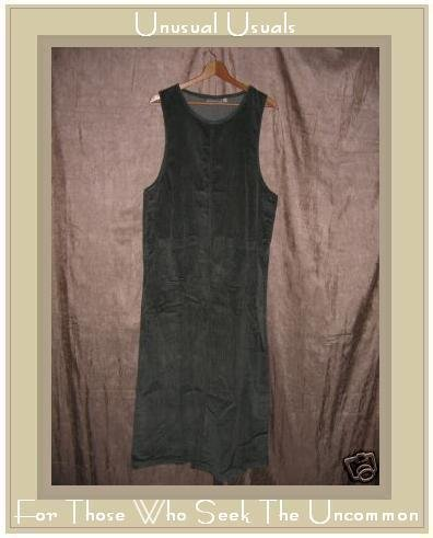 MATCH Soft Green Wide Whale Corduroy Jump Dress Large L