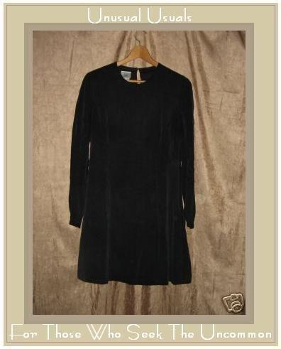 LAURA ASHLEY Black Silk Dress UK 12 EUR 38 US 8 Medium M