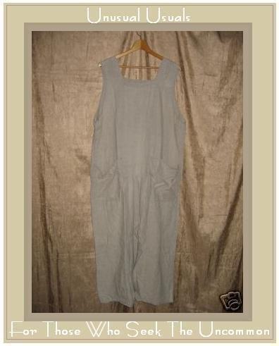 FLAX Jeanne Engelhart Long LINEN Jump Dress Generous 1G