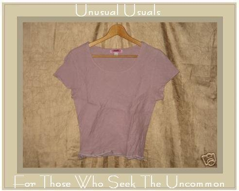 SOLITAIRE Lavender Linen Bias Cut Pullover Shirt Top SMALL S