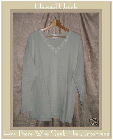 N.Y.L. NEW YORK LAUNDRY Knit Pullover Shirt Tunic Top LARGE L