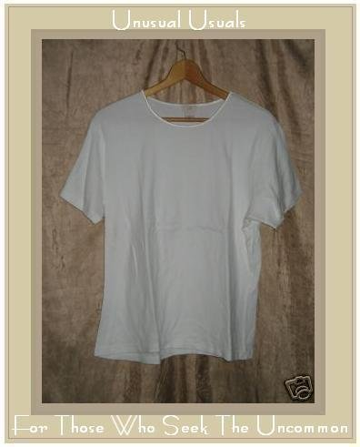 J. JILL Soft White Cotton Knit Pullover Shirt Top Large L