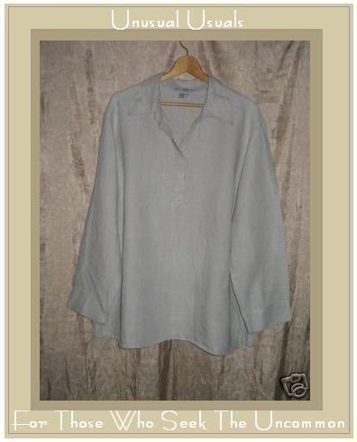 B'B Natural Pullover LINEN Tunic Top Shirt 2X