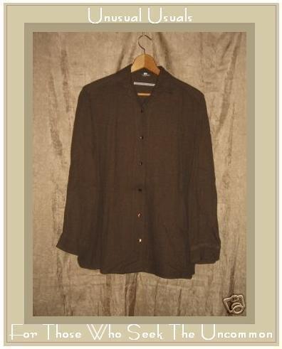 MORENO MARTINI DA FIRENZE Brown Button Shirt Top Medium M