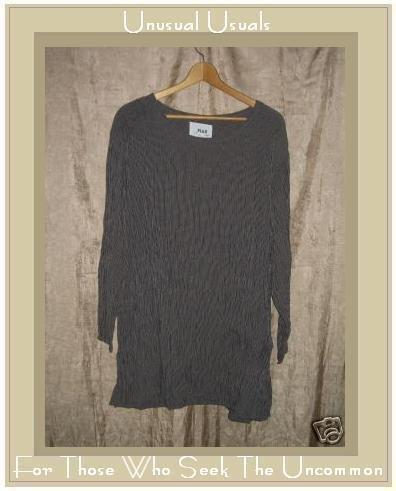 Flax by Jeanne Engelheart Skirted Tunic Top Shirt Small S