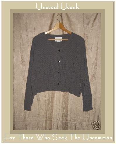 Flax by Jeanne Engelheart Cropped Button Shirt Top Medium M