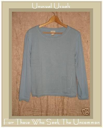 J. Jill Soft Blue Knit Pullover Sweater Top Small S