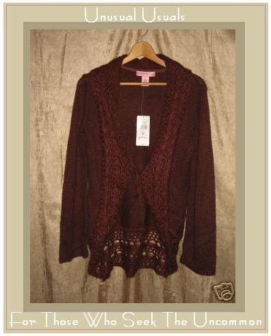 New Bandolino Soft Russet Shawl Neck Cardigan Sweater Medium M