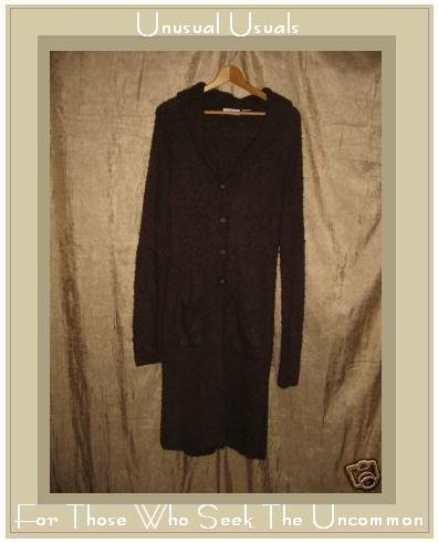 Ci Sono Long Soft Brown Duster Cardigan Sweater Large L