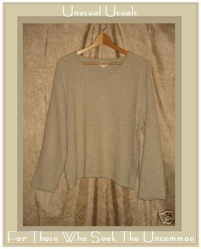 J. Jill Soft Taupe Nubby Knit Pullover Sweater Top Medium M