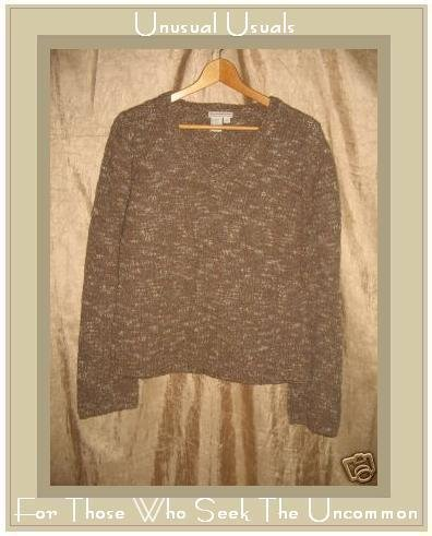 Royal Robbin Earthy Green Knit Pullover Sweater Top Medium