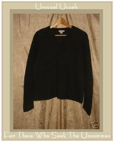 J.  Crew Rich Brown Nubby Knit Pullover Sweater Top Large L
