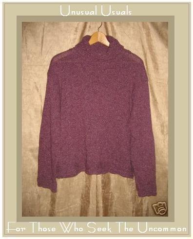 Karen Tate Knits Soft Purple Turtleneck Tunic Sweater M L
