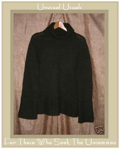 Hennes Soft Dark Green Turtleneck Tunic Sweater Large L