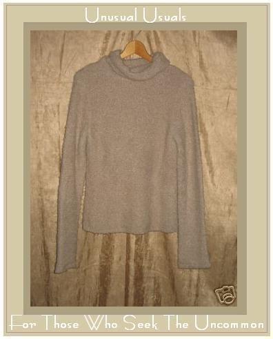 J. Crew Soft Nubby Taupe Turtleneck Tunic Sweater Large L