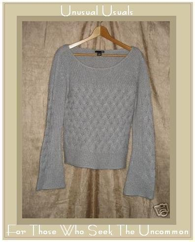 H & M Soft Lavender Gray Knit Pullover Sweater Top Medium M