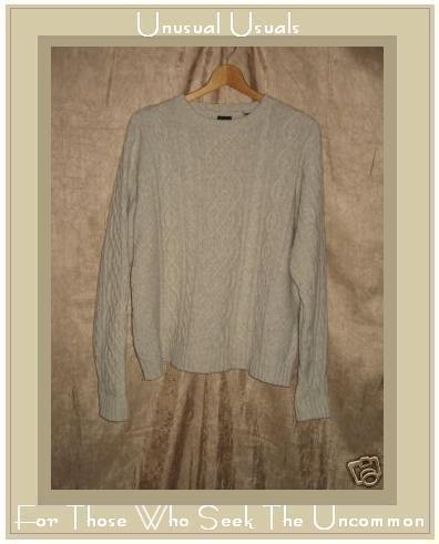 Gap Soft Lamswool Aran Knit Fisherman's Sweater Small S