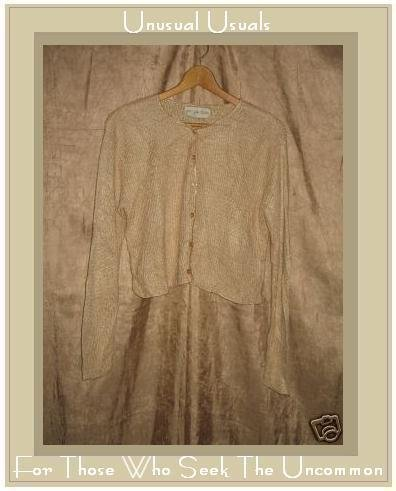 Jay Jacobs Slinky Cream Wool Cardigan Top Large L