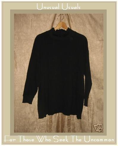 J. Jill Black Knit Turtleneck Tunic Top Shirt XL X-Large