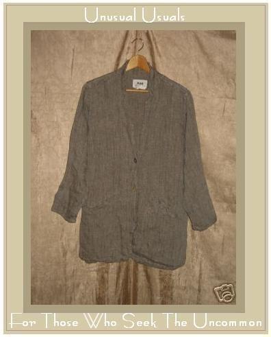 FLAX by Jeanne Engelhart LINEN Blazer Jacket Small S