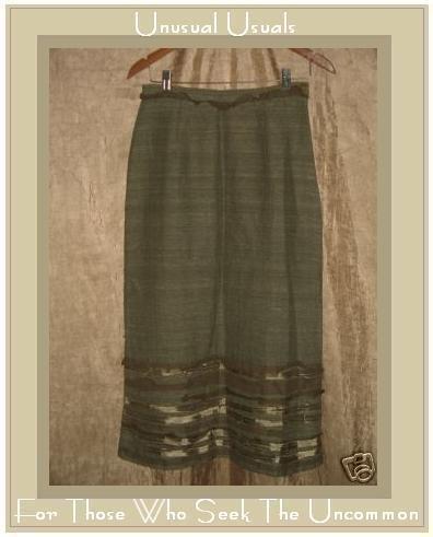 New Neesh by D.A.R. Fabulous Green Silk Ribbon Skirt Small S