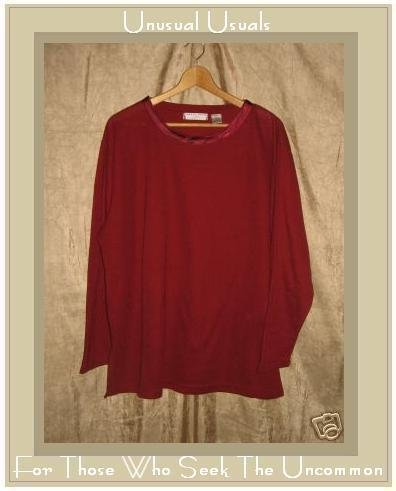 Carolyn Taylor Woman Soft Red Knit Pullover shirt top 3X