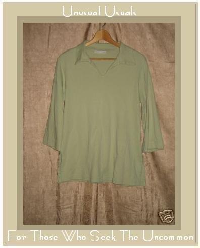 BRYN WALKER Soft Green Knit Pullover shirt top Small S