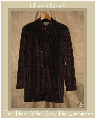 Coldwater Creek Textured Velvet Tunic Button Jacket PL