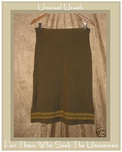 FREE PEOPLE Knee Length Ribbon Skirt Medium 9 / 10