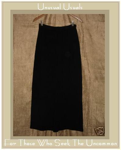CUT LOOSE Long Black Knit Skirt Medium M